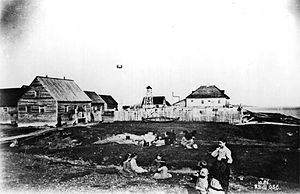 Fort Albany First Nation - Image: Fort Albany, Ontario, 1886