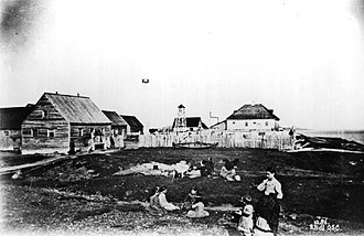 Fort Albany First Nation - Fort Albany as it appeared in 1886