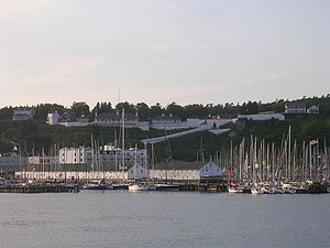 Mackinac Island, Michigan - Image: Fort Mackinac from water