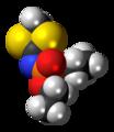 Fosthietan molecule spacefill.png