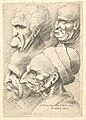 Four grotesque heads in profile to left MET DP823705.jpg