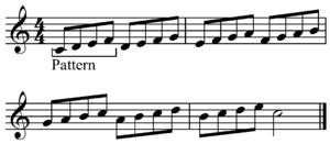 Melodic pattern - Image: Four note ascending melodic pattern
