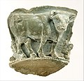 Fragment of a bowl with a frieze of bulls in relief, ca. 3300–2900 B.C. Late Uruk–Jemdet Nasr. Southern Mesopotamia.jpg