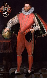 Sir Francis Drake (hacia 1581). Fue considerado como un pirata por las autoridades españolas, mientras que en Inglaterra se lo valoró como corsario y se lo honró como héroe. Lo cierto es que unas veces actuó como pirata y otras como corsario.