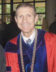 Dr. Frank Lazarus, President Emeritus of the University of Dallas.