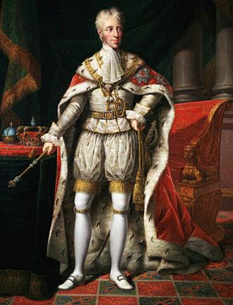 Frederick VI of Denmark - Portrait by Hans Hansen, 1824