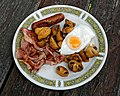 Fried breakfast at the Chalet Cafe, Cowfold, West Sussex, England.jpg