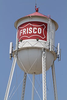 Frisco Downtown Water tower 05312010.JPG