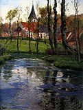 Frits Thaulow, 1895c - The Old Church by the River.jpg