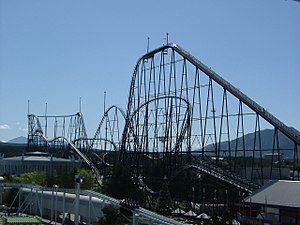 Fuji-Q Highland - Fujiyama, the longest and tallest roller coaster in Fuji-Q Highland