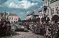 Gábor Áron tér a magyar csapatok bevonulása idején, szemben a Malom utca. A felvétel 1940. szeptember 13-án készült. Fortepan 92510.jpg