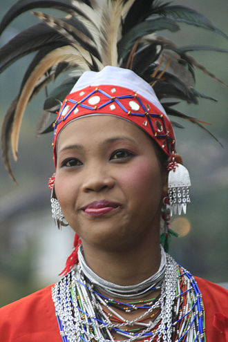 Garo people - A Garo woman with traditional ornaments