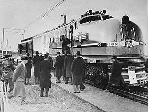 GE steam turbine locomotives - A GE steam turbine locomotive on a test run in 1938