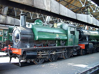 Locomotives of the Great Western Railway - GWR 1361 Class 1363 at Didcot Railway Centre, 2005
