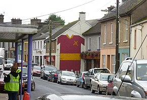 Gable mural of Hurling Shirt, Tulla, County Clare - geograph.ie - 2089734.jpg