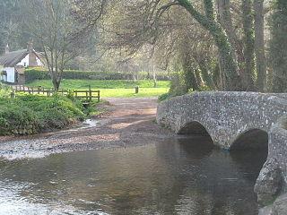 River Avill watercourse in the United Kingdom