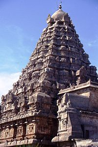 Temple Gopuram at Gangaikonda Cholapuram