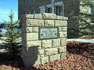 Goldfield, Nevada - A commemorative marker for the boxing championship match between Gans and Nelson