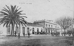 Gare de Cannes - Gare de Cannes-Ville in 1880