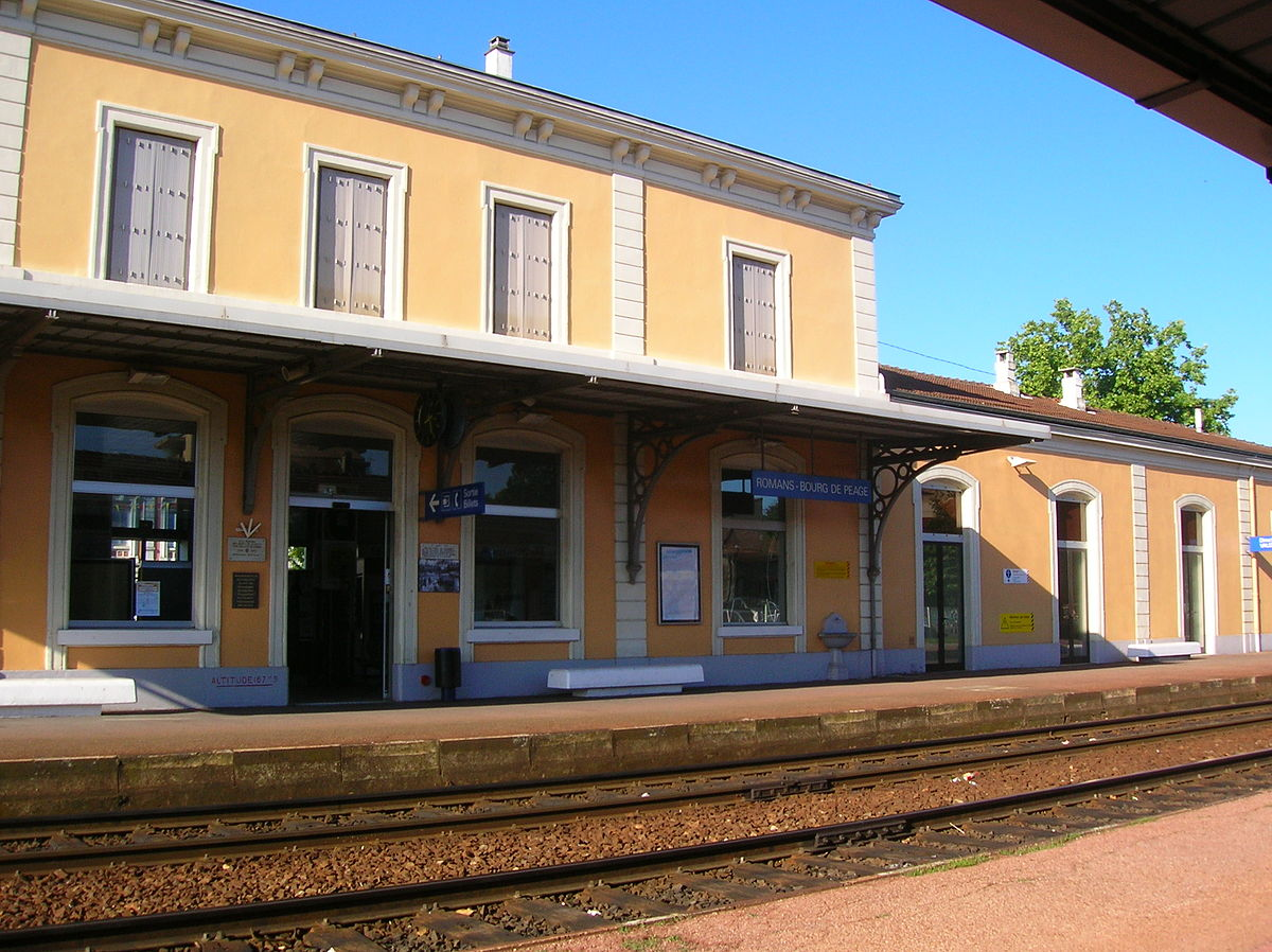 Station romans bourg de p age wikipedia for Garage bourg de peage