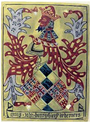 John Bourchier, 1st Baron Berners - Image: Garter Plate John Bourchier 1st Baron Berners