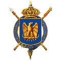 Gartered arms of Napoleon III, Emperor of the French.png
