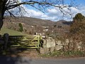 Gate and wall and view, Lustleigh - geograph.org.uk - 1763422.jpg