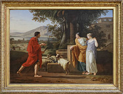 Louis Gauffier: Jacob coming to find the daughters of Laban