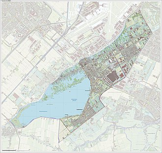 Aalsmeer - Topographic map of Aalsmeer, June 2015