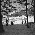 Gezicht op de wintersporters bij de skiliften naar de Patscherkofel, Bestanddeelnr 254-4337.jpg