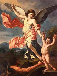 Giacinto Gimignani - An Angel and a Devil Fighting for the Soul of a Child - WGA08997.jpg