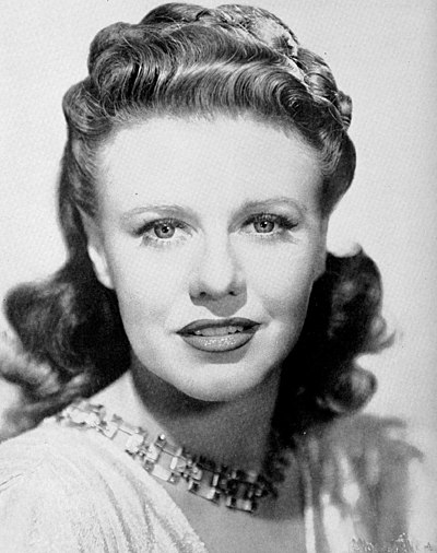 Ginger Rogers, American actress and dancer