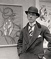 Gino Severini at the opening of his solo exhibition at the Marlborough Gallery, London, 1913 (detail).jpg