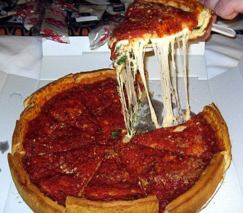Giordano's Chicago-style deep dish pizza