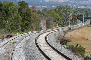 Orbost railway line - Section of line at Morwell Loop upgraded as part of the Regional Fast Rail project