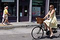 Girl on bicycle in Charleston 2009.jpg