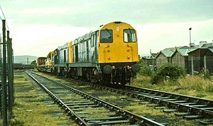 Girvan Old railway station - Girvan goods station in 1985.