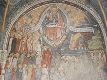 Il Giudizio Universale (1444) nell'atrio della Chiesa parrocchiale