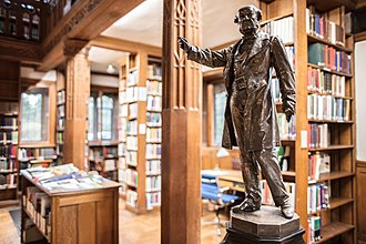 Gladstone's Library - Gladstone's statue in the library.