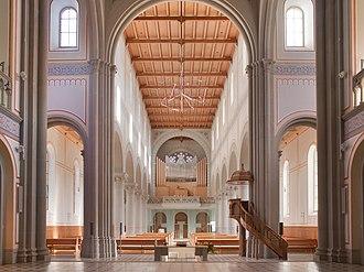 Glarus - The aisle of the church