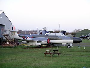 No. 64 Squadron RAF - A Meteor NF.14 from 64 Sqn. at the Midland Air Museum.