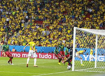 Fred faz gol em Copa do Mundo no Brasil. bdb76e73b91fb