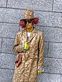 Golden mime (standing totally still in front of Bank of Ireland in Dublin) (8205219754).jpg