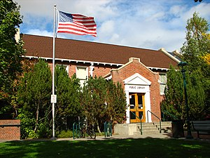 National Register of Historic Places listings in Klickitat County, Washington - Image: Goldendale Free Public Library Goldendale Washington
