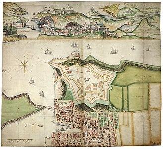 Royal Citadel, Plymouth - De Gomme's original designs for the Royal Citadel