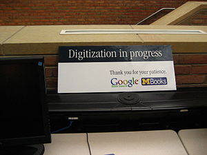 Google Digitization signs are all over the Mic...