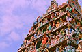 Gopuram of Sri Mariamman Temple, Singapore (detail) - 20140213-02.jpg