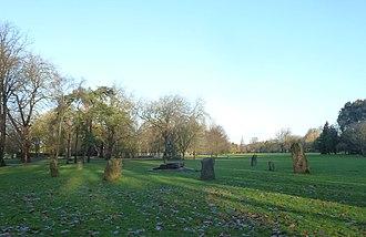 Gorsedd stones - Image: Gorsedd stones, Bute Park, Cardiff