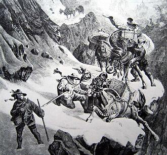 Gotthard Pass - Muleteers at the Gotthard
