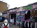 Graffiti on a shop front in Sclater Street - geograph.org.uk - 1700834.jpg
